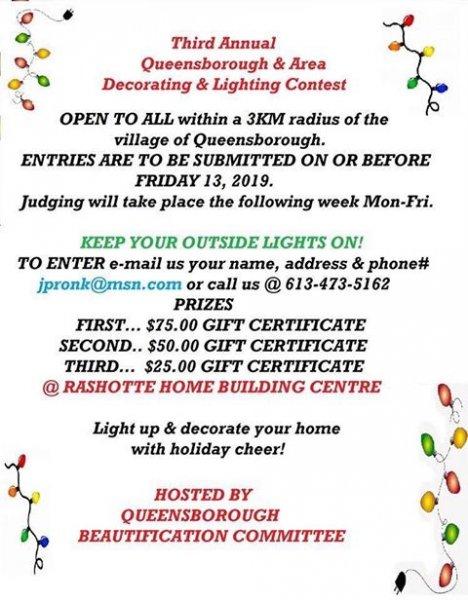 Third Annual Queensborough & Area Decorating & Lighting Contest