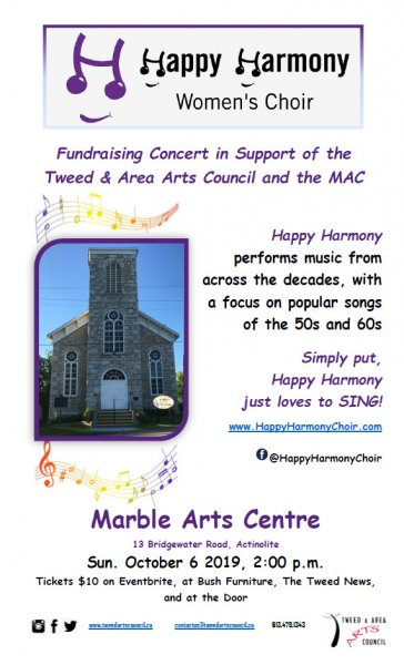 Happy Harmony Women's Choir: Fundraising Concert for Tweed & Area Arts Council