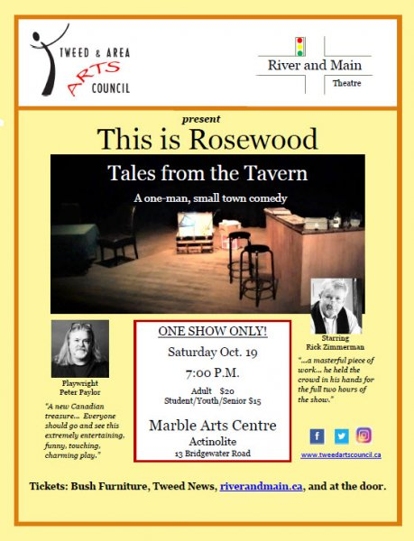River & Main Theatre Co. & T&AAC present 'This is Rosewood - Tales from the Tavern'