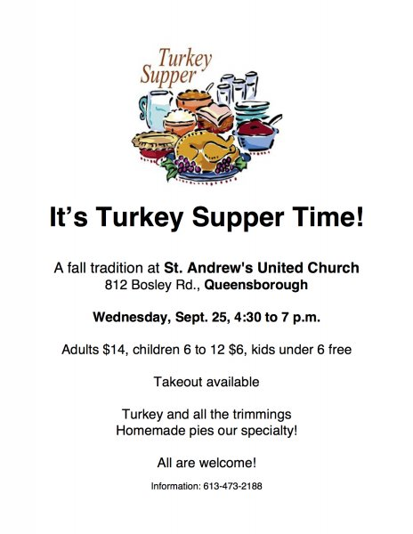Turkey Supper at St. Andrew's United Church, Queensborough
