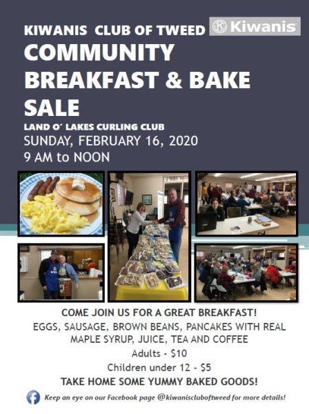 Kiwanis Community Breakfast and Bake Sale