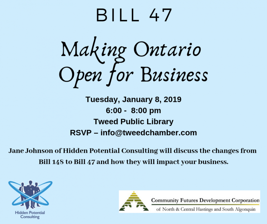 Bill 47 - Making Ontario Open for Business