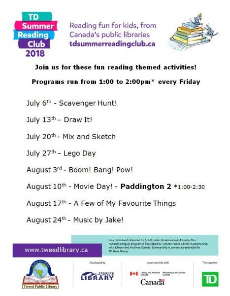 TD Summer Reading Club Activity