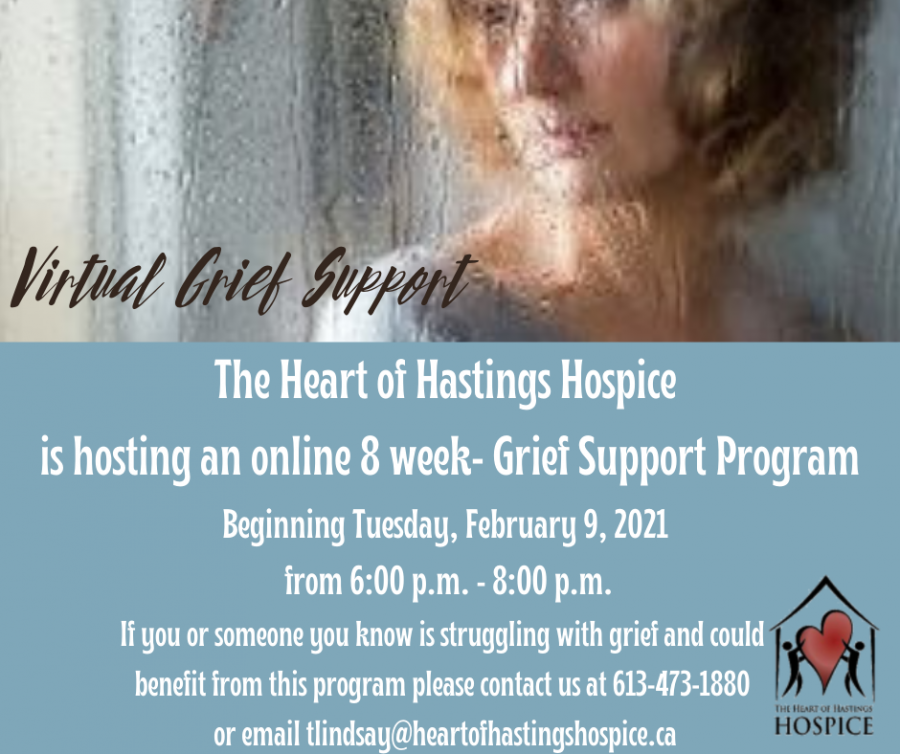 The Heart of Hastings Hospice 8-Week Online Grief Support Program