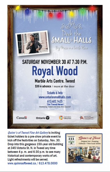 Royal Wood at the MAC - Deck the Halls! Ontario Festival of Small Halls