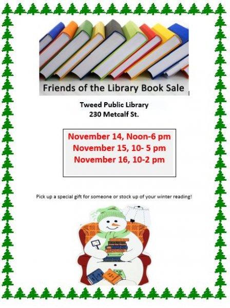 Friends of Tweed Library Book Sale
