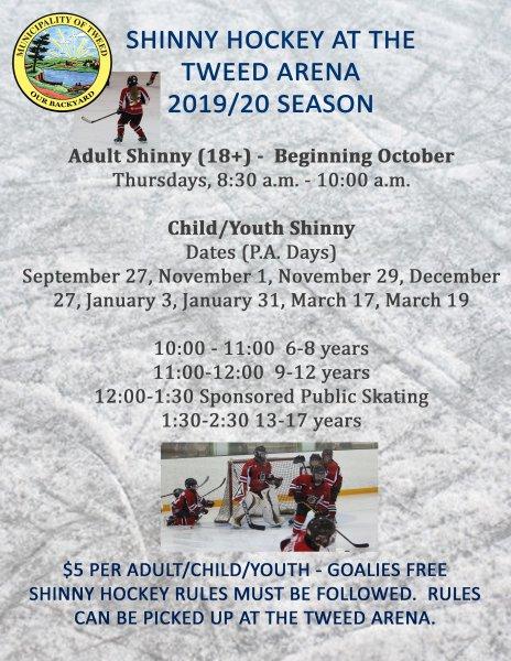 Shinny Hockey & Public Skating