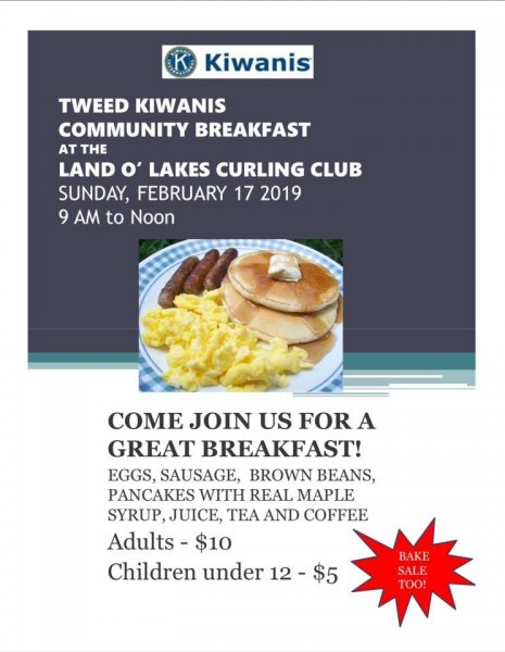 Kiwanis Pancake Breakfast and Bake Sale