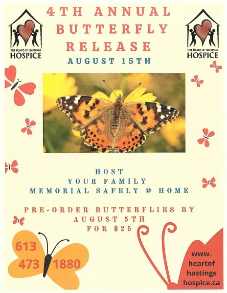 4th Annual Heart of Hastings Hospice Butterfly Release