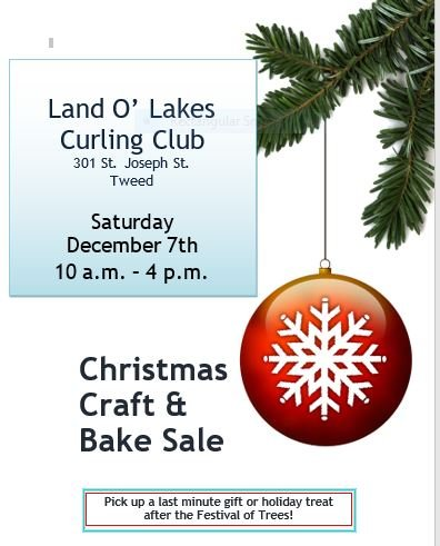 Chrstmas Craft and Bake Sale