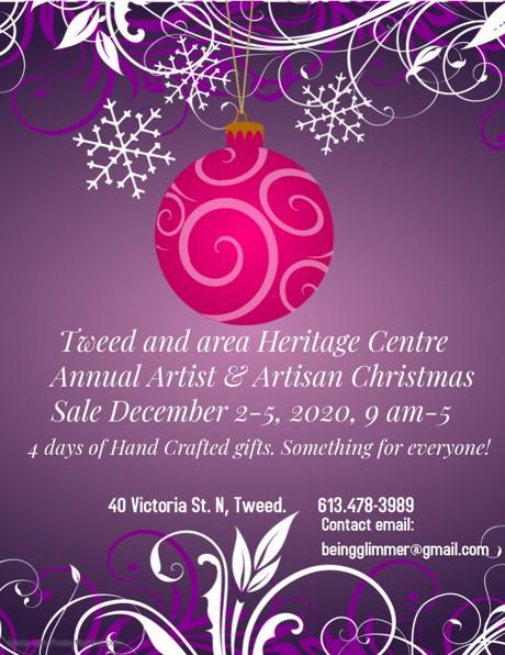 Annual Artist & Artisan Christmas Sale