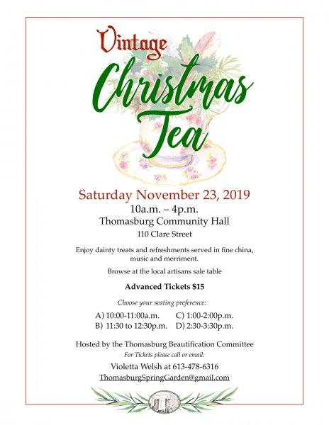 Vintage Christmas Tea