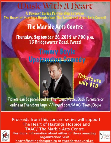 Music with a Heart - Timmy Boyle/Up Standing Comedy - T&AAC/Heart of Hastings Hospice