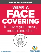 Non-Medical Mask or Face Covering Required